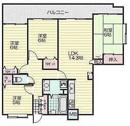 フローレンス八木ANNEX[3階]の間取り