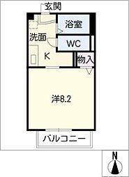 愛知県小牧市常普請2丁目の賃貸アパートの間取り