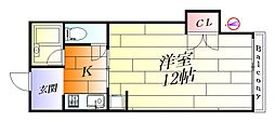 プラザ庄屋[1階]の間取り