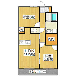 杜喜(TOKI)[105号室]の間取り