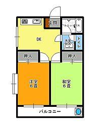 メゾンノーブル[1階]の間取り