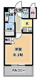 サンフレンドユーマンション[3階]の間取り