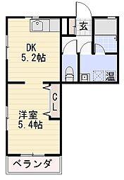 長野県長野市大字栗田の賃貸マンションの間取り