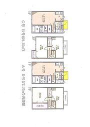 [テラスハウス] 千葉県習志野市実籾3丁目 の賃貸【千葉県 / 習志野市】の間取り