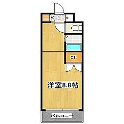 アイビーコート錦[4階]の間取り