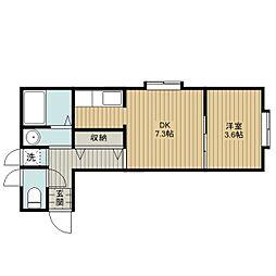 サクセスマンション[3階]の間取り