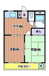東京都昭島市福島町2丁目の賃貸マンションの間取り