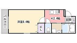 Marina Palace薬円台[303号室]の間取り