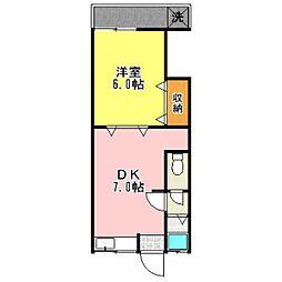 東京都杉並区上高井戸1丁目の賃貸アパートの間取り
