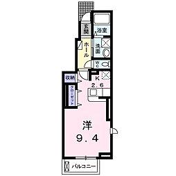 福岡県北九州市門司区松原1丁目の賃貸アパートの間取り