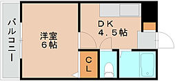 福岡県福岡市東区筥松4丁目の賃貸マンションの間取り