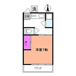 栄光荘[2階]の間取り