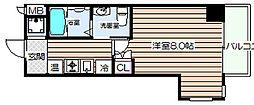 大阪府大阪市北区長柄中1の賃貸マンションの間取り