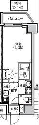 都営大江戸線 両国駅 徒歩6分の賃貸マンション 2階1Kの間取り