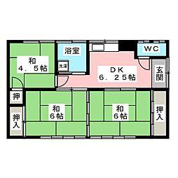 [一戸建] 宮城県仙台市若林区沖野2丁目 の賃貸【/】の間取り