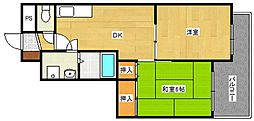 エトワールミサキ[2階]の間取り