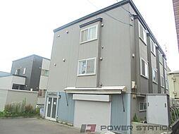 北海道江別市野幌若葉町の賃貸アパートの外観