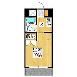 賀茂女子学生会館[102号室]の間取り