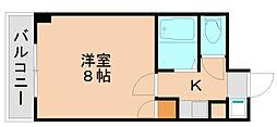 パンルネックスクリスタル箱崎[6階]の間取り