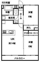 長沼ビル[5階]の間取り