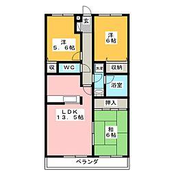 セリエOHBA[3階]の間取り