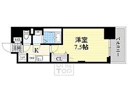 ラグゼ新大阪5 15階1Kの間取り