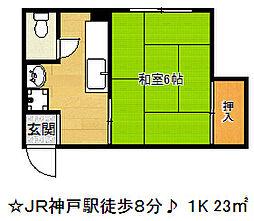 米商興産ビル[4階]の間取り