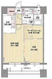 パークアクシス札幌植物園前[7階]の間取り