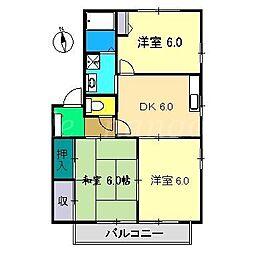 レ・モンベールB棟[2階]の間取り