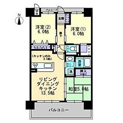アルファライフ岡山駅南[3階]の間取り