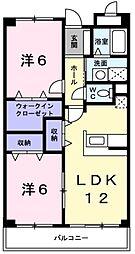 兵庫県神戸市西区北別府1丁目の賃貸マンションの間取り