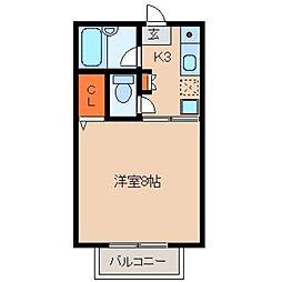 久保田ハイツ1号館[112号室]の間取り