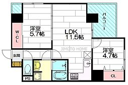 ノルデンハイム江坂アドバンス[11階]の間取り