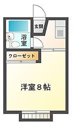 千原ツインA[2階]の間取り