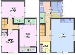 [一戸建] 奈良県天理市杉本町 の賃貸【奈良県 / 天理市】の間取り