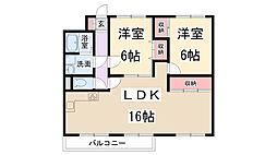 ラントリッヒハウス[4階]の間取り