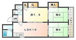 雅マンション[4階]の間取り