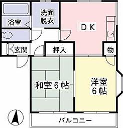クレールハイムD[1階]の間取り