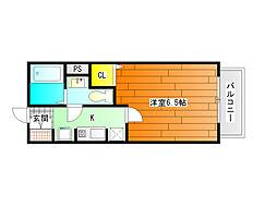 セジュールMORITA[1階]の間取り