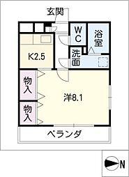 エマーブル矢橋[1階]の間取り