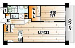 菊竹ビル金鶏[3階]の間取り
