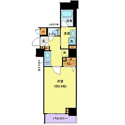 都営大江戸線 牛込柳町駅 徒歩2分の賃貸マンション 2階1Kの間取り