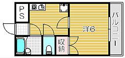 ネオ常磐[5階]の間取り