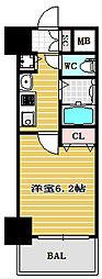 プレサンス心斎橋ザ・スタイル[14階]の間取り