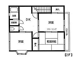 神奈川県横浜市青葉区荏田西3丁目の賃貸アパートの間取り