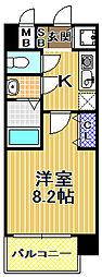 アドバンス西梅田ウインズ[2階]の間取り