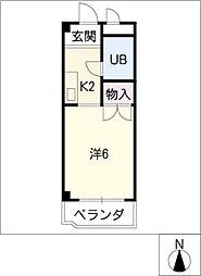 メッカ天伯[3階]の間取り