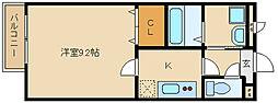 アムールメゾンドフルール[2階]の間取り