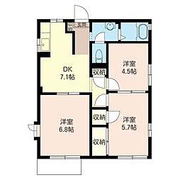 エントピア B棟[1階]の間取り