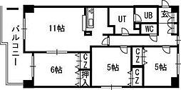 ウインコート39[8階]の間取り